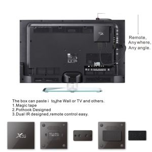 Amlogic S905 2g/16g 2.4G/5.8g WiFi Bt4.0 with LED Display Media Player pictures & photos