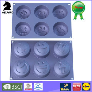 Non-Stick Silicone Smiling Faces Cake Mould
