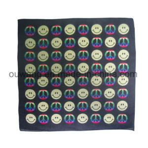 Wholesale Hip-Hop Smiling Face Profection Square Bandana 100% Cotton pictures & photos