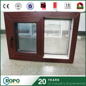 PVC Frame Horizontal Wood Sliding Window China Factory pictures & photos