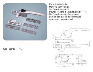 Zinc Alloy Handle for Windows/Doors Hardware (SQ-326 L/R) pictures & photos
