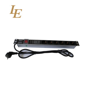 Le 19 Inch 1u Germany Type PDU pictures & photos
