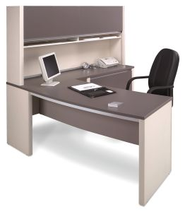 White Dark Grey Office Cabinet Attached Executive Table (HX-N0109) pictures & photos