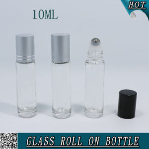 Cosmetics Empty Glass Roller Bottles for Essential Oil Clear 10ml pictures & photos