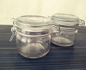 200ml Glass Storage Jar, Glass Jam Jar with Buckle, Mini Glass Food Jar! pictures & photos