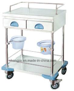 Sjt085 Luxurious Stainless Steel Treaament Cart