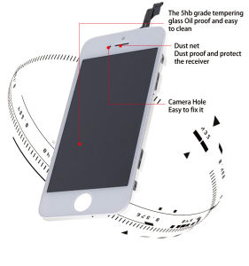 No Dead Pixel Touch Screen Mobile Phone LCD for iPhone 5g/5s/5c/5se LCD pictures & photos