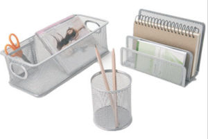 Desk Stationery Set/ Metal Mesh Stationery Office Set/ Office Desk Accessories pictures & photos