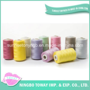 High Tenacity Raw White Embroidery 100% Polyester Sewing Thread pictures & photos