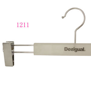 Wholesale Display European Luxury Adjustable Metal Pants Clothes Hanger with Clips pictures & photos