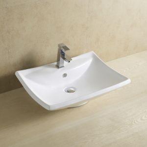 Leaf Form Bathroom Ceramic Basin 8061 pictures & photos
