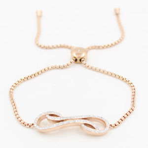 Fashion IP Rose Gold Plated 316L Stainless Steel Bracelet with Bithday Stones pictures & photos