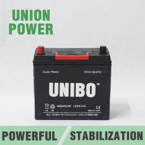 Mf Auto Battery 46b24L Mf 12V45ah High Performance JIS Car Battery pictures & photos