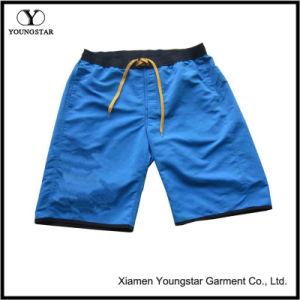 Mens Microfiber Blue Magic Tape Elastic Waist Shorts Short Pants pictures & photos