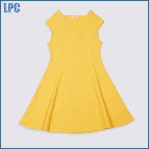 Yellow Sleeveless Long Dress for Litter Girl Uniform pictures & photos