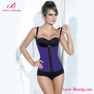 Hot Smooth Purple Vest Latex Plus Size Waist Training Corset