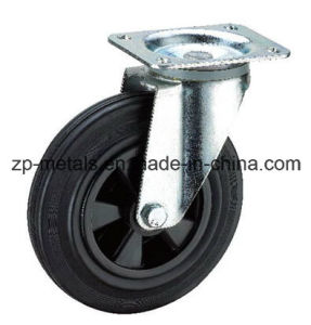 6 Inch Plastic Trashbin Rubber Caster Wheel pictures & photos