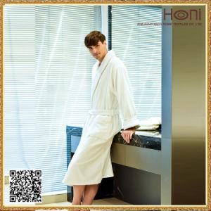 100% Cotton Shawl Collar Hotel Terry Bathrobe pictures & photos