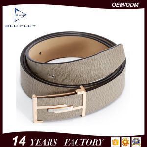 Custom Logo Buckle Belt Genuine Leather Men′s Waist Belt pictures & photos