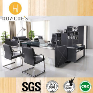 New Style Modern Leather MDF Office Desk (AT018) pictures & photos