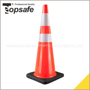 36inch (90cm) Injected Black Base PVC Traffic Cone pictures & photos