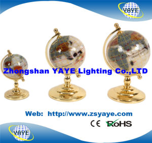 Yaye 18 Hot Sell Gold Plated Zinc Alloy Stand Gemstone Globe with 330mm/220mm/150mm pictures & photos