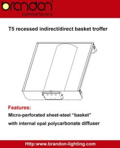2x2/2x4 Recessed Direct/Indirect Center Basket