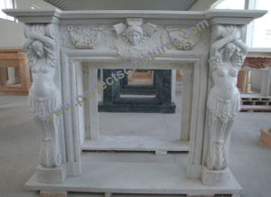Fireplace Surround for Stone Marble Mantel (QY-LS393) pictures & photos