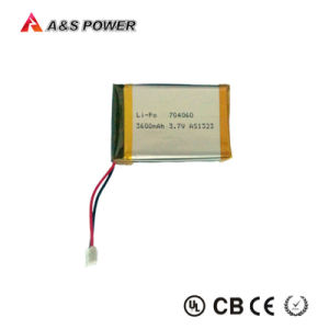 2p 704060 Rechargeable Lithium Polymer Battery 3.7V 3600mAh with Connector pictures & photos