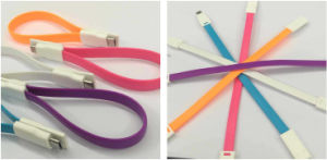 Double Side Flat Magnetic USB Cable for Smartphones (LCCB-058) pictures & photos