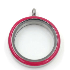 Simple Colors Rubber Glass Window Floating Charms Locket