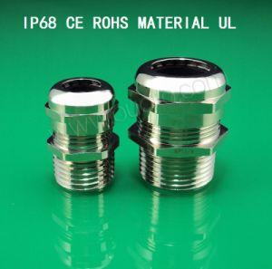 Metal/Metallic Cable Gland,Npt Series,Brass Plated Nickel, Waterproof, Dustproof, IP68, CE, RoHS