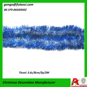 Christmas Blue Tinsel Garland
