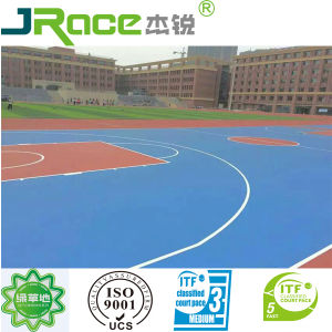 Sandwich Synthetic Rubber Running Track Spray SBR/EPDM Granules Run Way Track pictures & photos