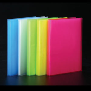 A4 Clear Book with Transparent Colored (C34010)