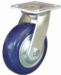 Swivel Wheel Enduranced Nylon Caster (Blue) pictures & photos