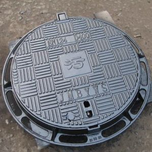Round Ductile Iron Manhole Cover and Frame En 124 D400 pictures & photos