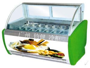 Electric Yogurt Ice Cream Display Showcase pictures & photos