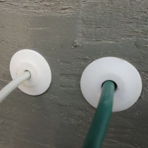 Feedthrough Wall Bushing in White for RG6 Cable Wire pictures & photos