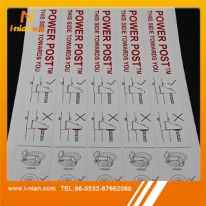 Custom Printing Stainless Steel Tube Hydraulic Pipe Sticker pictures & photos