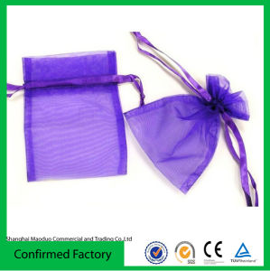 Customised Organza Drawstring Pouch with Printed Logo Wholesale (BBB-2286)