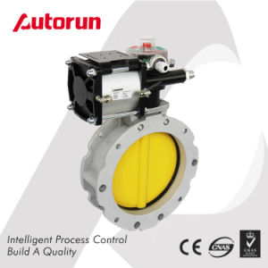 Dn100 Dn200 Dn300 Cement Pneumatic Butterfly Valve pictures & photos