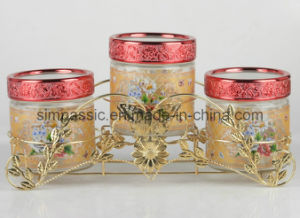 Golden Coated Storage Jar Sets (3PCS) (SG1501SJ) pictures & photos