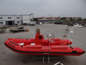 2017 Attractive Red 520cm Fiberglass Hull Inflatable Boat with Ce pictures & photos