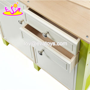 New Design Educational Toys Wooden Children Role Play Kitchen with Accessories W10c280 pictures & photos