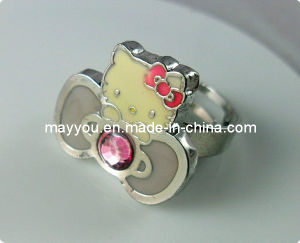 Fashion Jewelry- Color Enamel Metal Ring (HKR022)