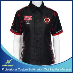 Custom Sublimation Women′s Pit Crew Race Shirts pictures & photos