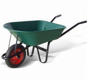Wheelbarrow with Heavy Duty Steel Tray