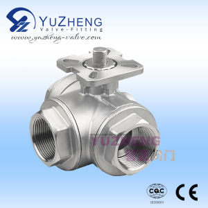 3-Way Ball Valve with ISO Mounting Pad pictures & photos