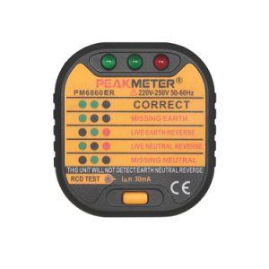 British Standard RCD Tester Pm6860er Socket Tester